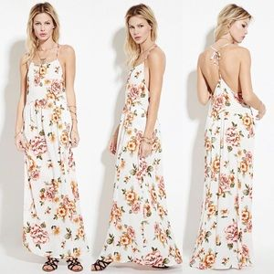 Forever 21 Floral Print Maxi Dress